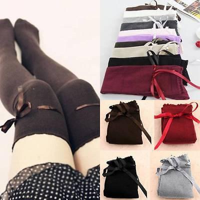 Sexy Women Girls Cotton High Socks Thigh High Hosiery Stockings Over The Knee