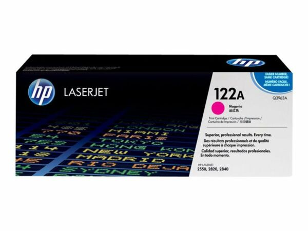 Lot 5 Q3963A 122A Genuine HP Magenta Toner Color LaserJet 2500L 2550LN 2550 /%
