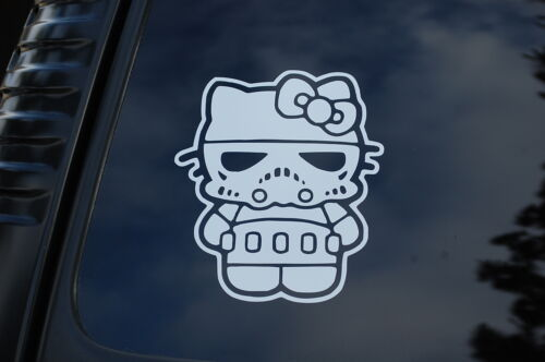 V63 Star Wars Hello Kitty Stormtrooper Vinyl Sticker Decal