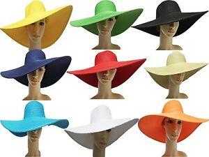 Women s Natural straw floppy wide brim Summer sun Beach hat ladies ... 6afab9da1ff
