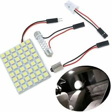12V Car Interior White 48 SMD 5050 LED Light Lamp Panel T10 Festoon Dome BA9S