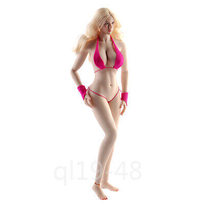 1//6 Female Seamless Body Model Big Bust Pale Skin 12/'/' Girl Action Figure Doll