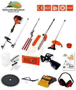 52cc-5-in-1-Hedge-Trimmer-Chainsaw-Strimmer-Brush-Cutter-Extension-Pole