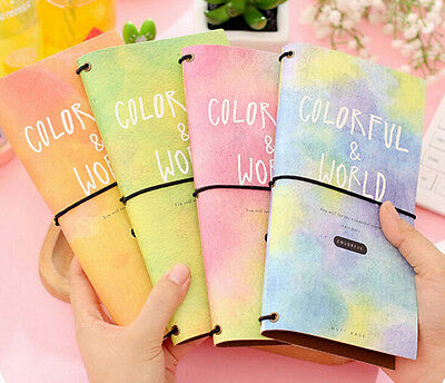 """Colorful World"" Cardboard Notebook Diary Journal Planner Schedule Travel Memo"