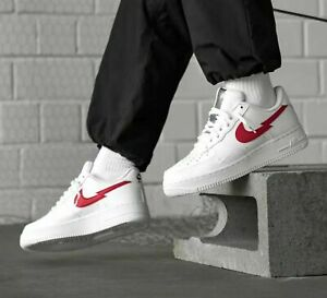 Details about MENS NIKE AIR FORCE 1 LV8 ,,Euro Tour'' SIZE UK 13 / UK 14 (CW7577 100)WHITE/RED