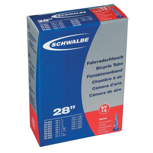6 x Schwalbe IMPAC CYCLE BIKE 700C INNER TUBES Presta Valve 700 x 20 23 25 28