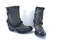 As 98 Cayden Smoke Grey Leather Cowboy Boot