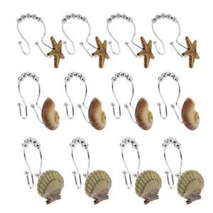 12pcs Crochet pour Rideau de Douche Coquille/Etoile Accessoire pour ...