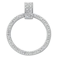 925 Sterling Silver CZ Eternity Circle Forever Love Wedding Pendant Gift Boxed