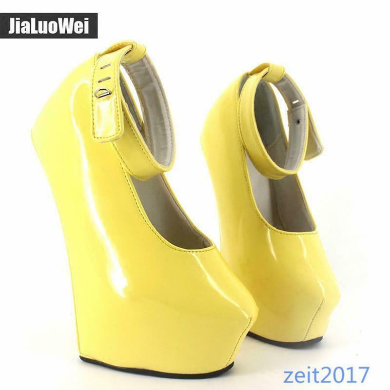 Damen 20cm Top Herren Anti-Bühne Show Plattform Ballett High Heels Schuhe 36-46
