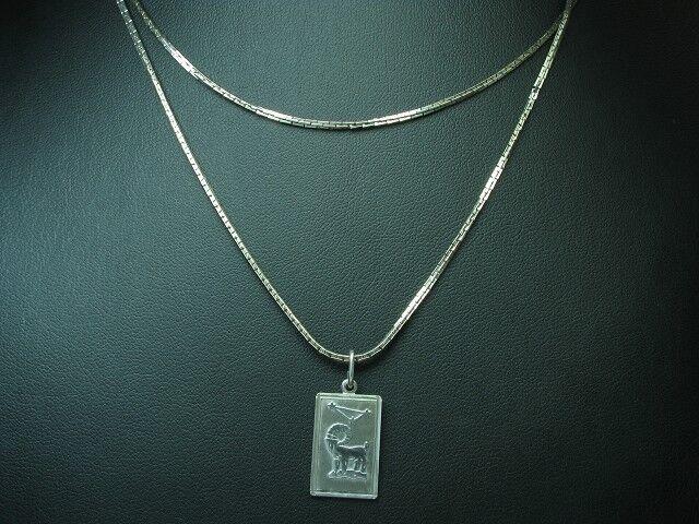835 silver Kette & 925 silver Anhänger   Widder   Echtsilver   80,0cm   9,8g