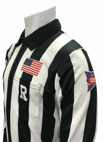 SMITTYUSA116CFO-150Collegiate Football Referee Long Sleeve Official Shirt