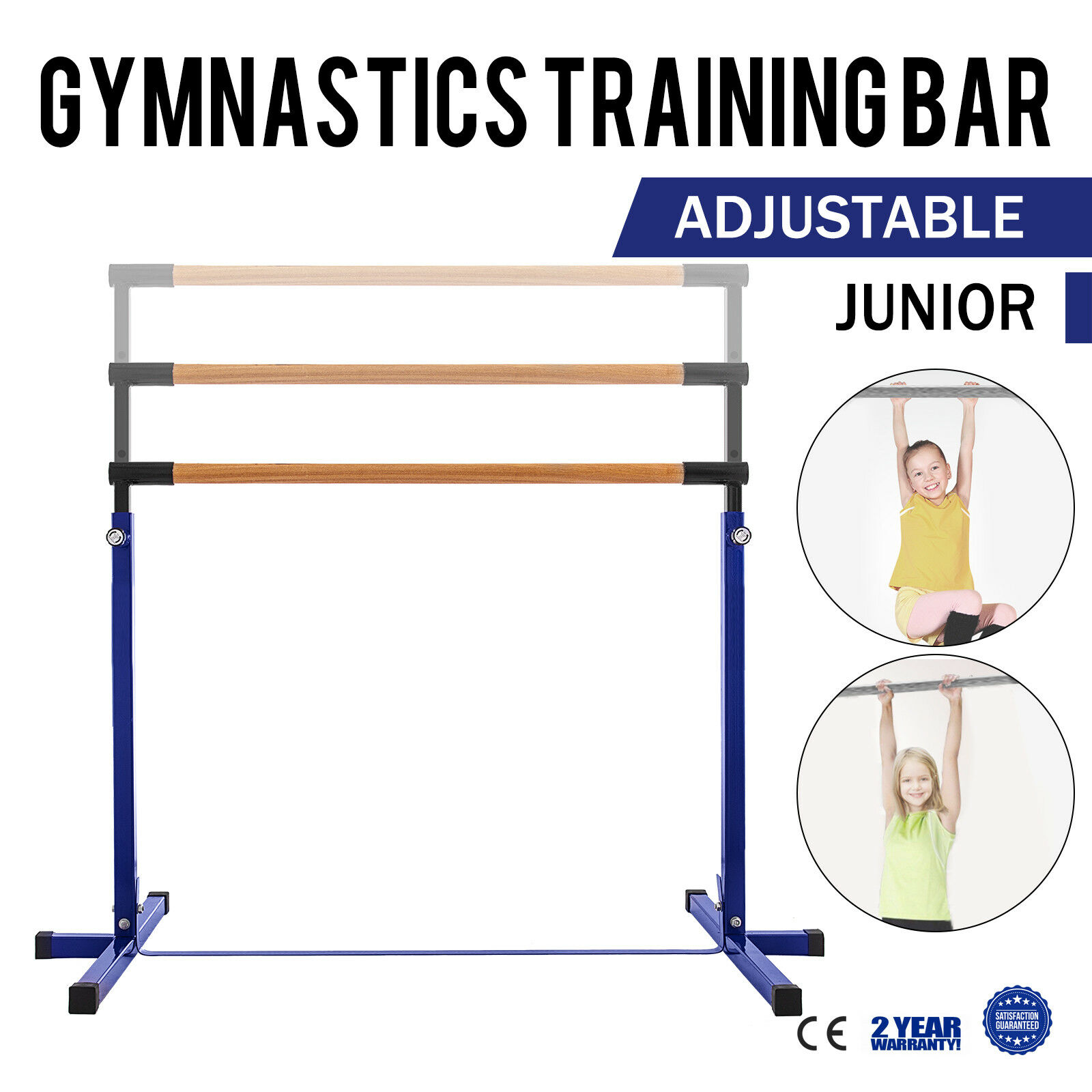 New Indoor Sports blueee Adjustable Horizontal Bar Gymnastics Junior Kip Bar