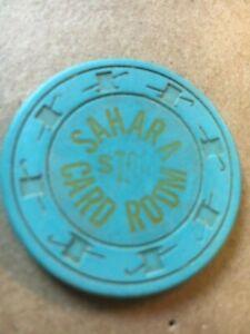SAHARA CARD ROOM $1 Gaming CLAY Poker CHIP - Las Vegas