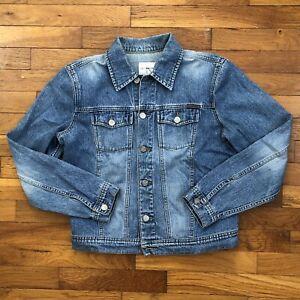 vtg 90s Calvin Klein Jeans Denim Jacket women's SMALL mom faded medium wash D325