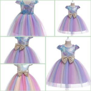 Bridesmaid Girl Party Wedding Dress Baby Kid Tutu Dresses Formal Flower Princess