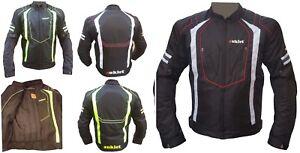 Giacca-Touring-Sport-Tessuto-Moto-Cordura-CE-Protezioni-Sfoderabile-Scooter-APW