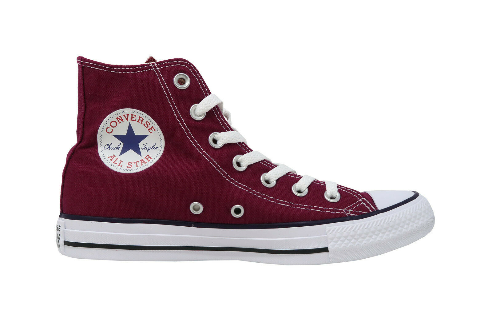 3e5d4d859a7f Converse Chuck Taylor All Star Hi Top Shoes M9613 - Maroon/White for sale  online