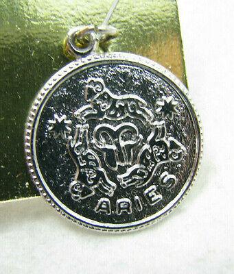 Aries Artwork March Zodiac Aries Jewelry Mini Aries Charm 18th Birthday Charm Vintage Aries Astrological Charm Charm Bangle