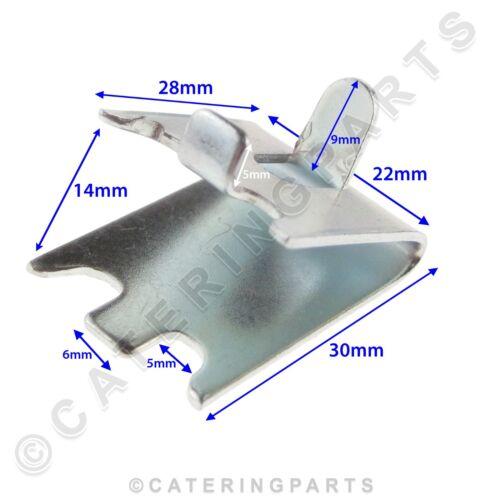 8 onglets clips Réfrigérateur étagère kit 4 x longueurs acier pilastre rail 980mm