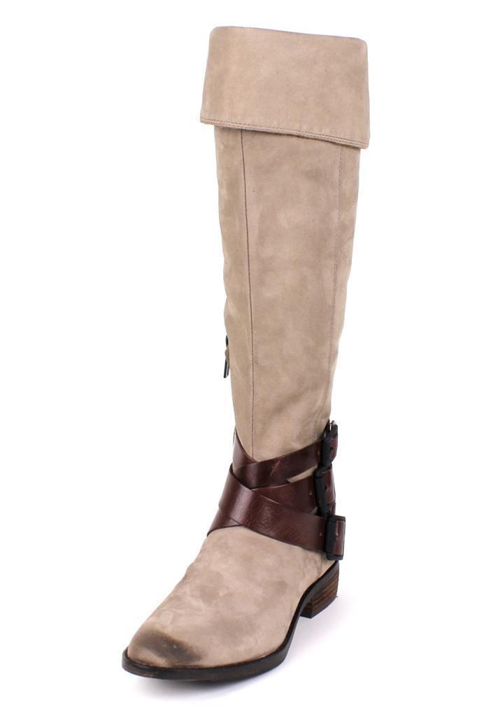 ottima selezione e consegna rapida Sam Edelman Pia avvio avvio avvio Stone Chocolate Pieced Leather over the knee high tall NEW  qualità ufficiale