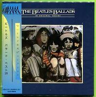 The Beatles BALLADS (20 Original Tracks) Japan mini LP CD w/OBI Strip SEALED
