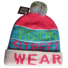 Vision Street Wear Mens VSW Beanie Fashion Vintage Snow Hat, Neon, One Size