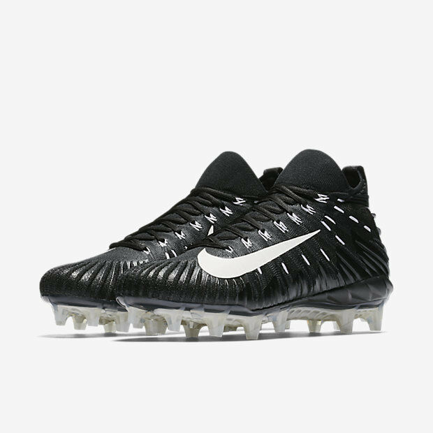 Nike Alpha Menace Elite Black White Football Cleats 871519 010 sz 9 MSRP  200