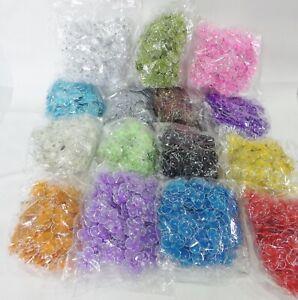 Wholesale-pack-of-100-Organza-Gauze-Glitter-FLOWERS-25mm-diameter-15-Colours