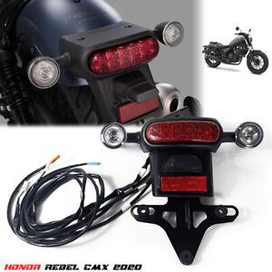RED MATTE BLACK TAIL LIGHT REAR LAMP LED FOR HONDA REBEL CMX 300 500 2017 18 19