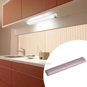 Auto LED Stick-on Motion Sensor Night Light Closet Cabinet Lamp Battery Powered