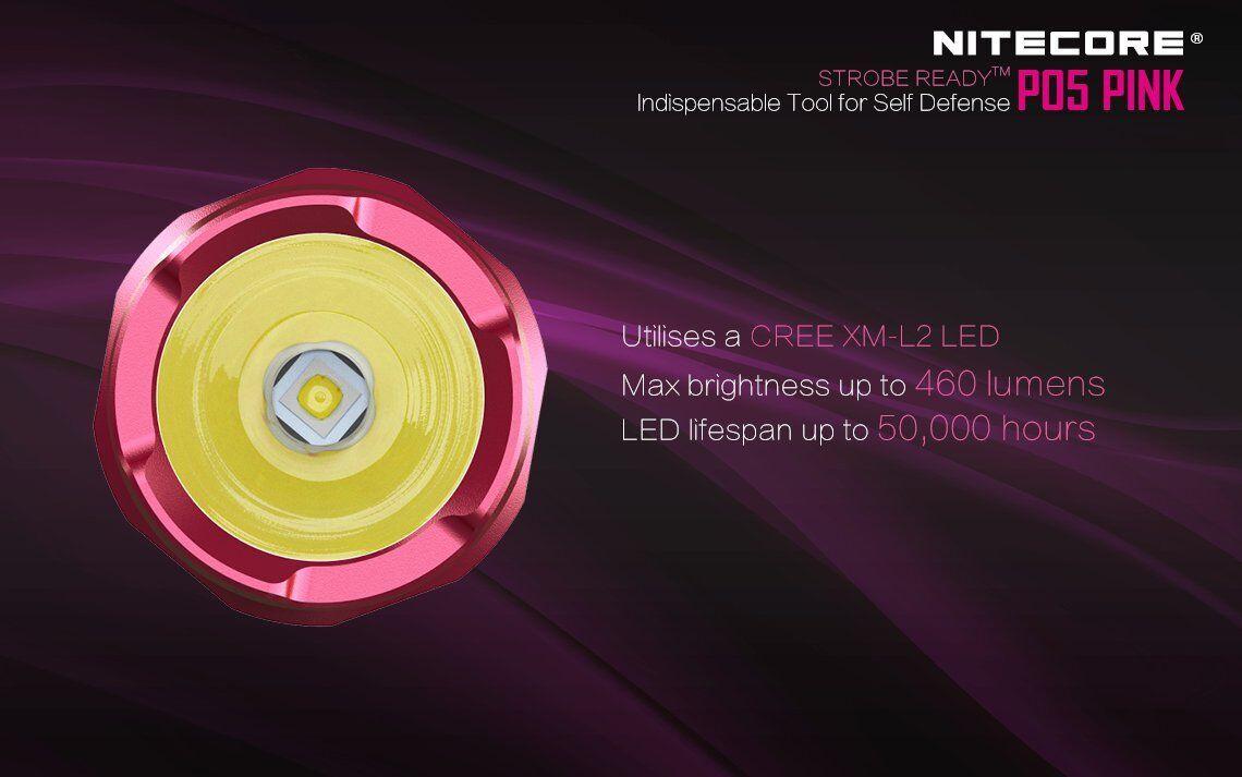 Nitecore P05 + Rosa 460 Lumen w/Nitecore D2 Charger, NL166, + P05 2x CR123A Batteries 8f86cd