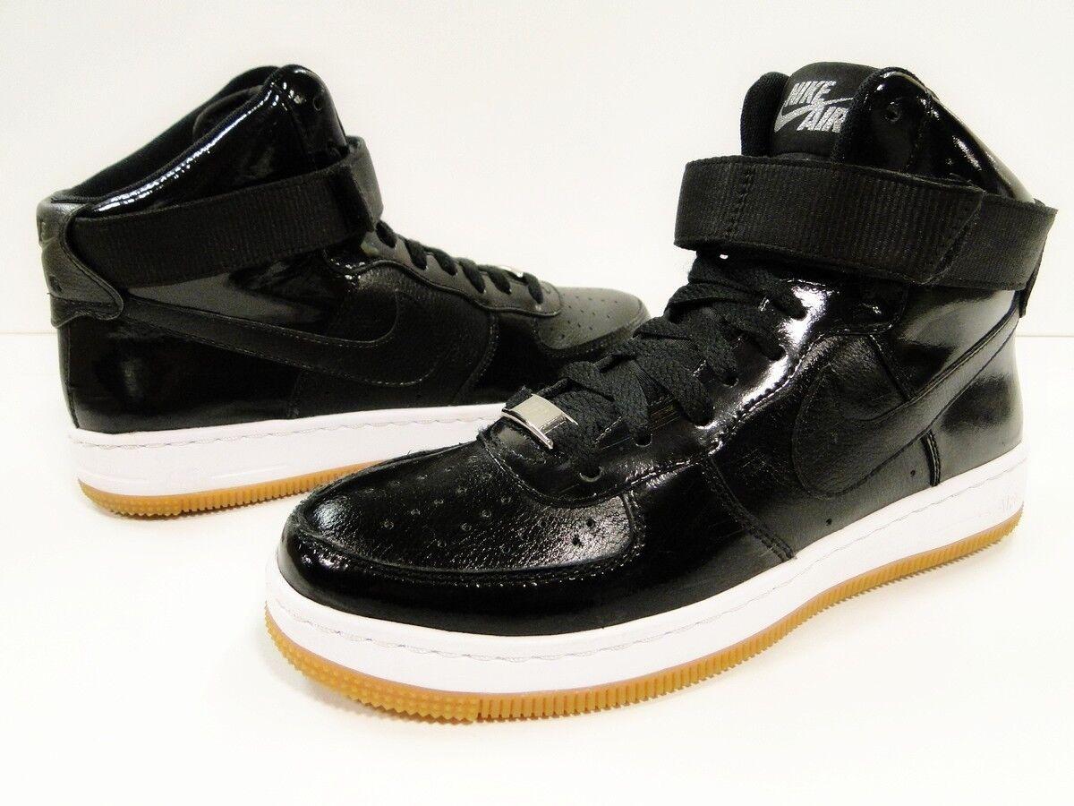 Nike Air Force 1 AF1 Airness femme Basketball Bottes Noir Blanc UK 4.5