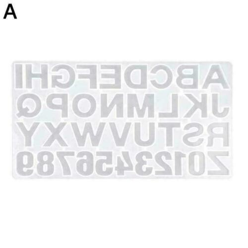 Details about  /1Pcs English Alphabet Epoxy Resin Molds Mixed Style Molds Silicone Casting J5R7