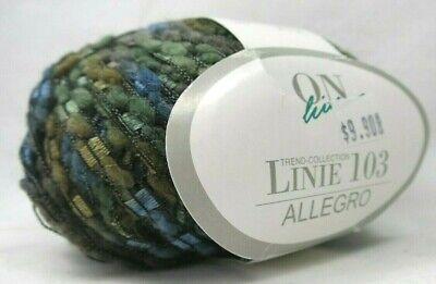 50g balls Illusion knitting wool Silver Gold /& Blue Ladder Ribbon yarn trim MOP