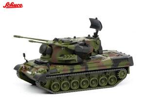 Schuco-452635500-Gepard-Flakpanzer-Bundeswehr-flecktarn-1-87-NEU-in-OVP