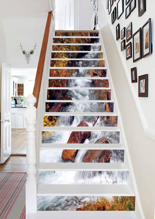 3D Excited River 99 Stair Risers Decoration Photo Mural Vinyl Decal Wallpaper AU