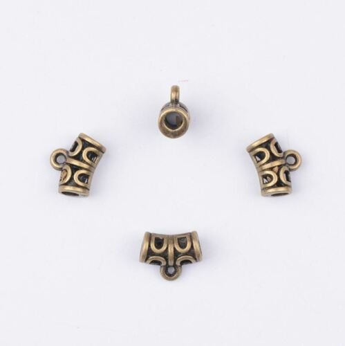 Tibetan Silver Charm Pendant Bail Connector Beads Bracelet Jewelry Findings #145