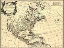 TRAVEL MAP NORTH AMERICA CANADA HISTORICAL ART POSTER PRINT LV4059