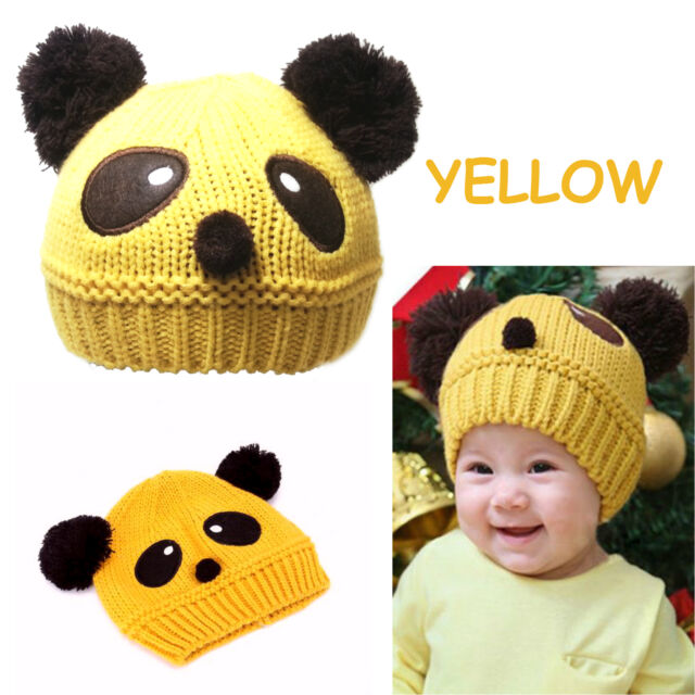 Buy Baby Girl Boy Pom Pom Knitted Beanie Panda Hat Cap 4 Mon-5 Yrs ... 4c9979a1149