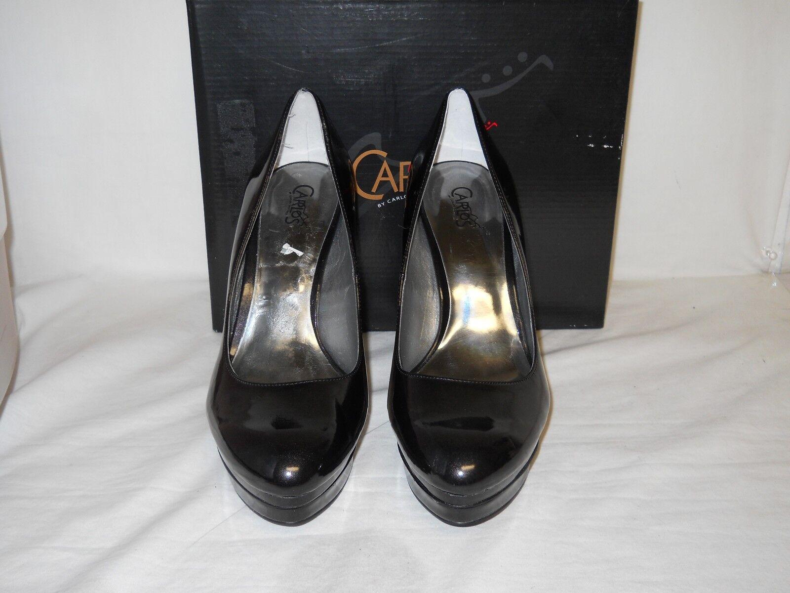 Carlos Santana New Womens Black Black Black Vintage Patent Platform Heels 9 M shoes NWB 433b94