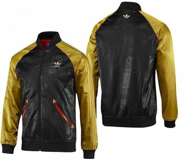 Adidas CHINESE NEW YEAR CNY JACKET Track superstar Bomber sweat shirt Top~Sz L