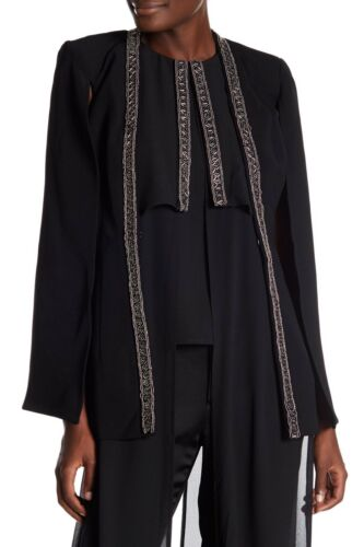 Sz Beaded 9784955294622 154 M Topper Nwt Embellished Black Jacket Lumier Cape Ny Cp1U6qn