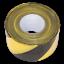 BTBY Sealey Danger Avertissement Barrière Bande 80 mm x 100mtr noir//jaune non-adhésif