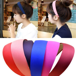 5-COLORS-WIDE-PLASTIC-HEADBAND-HAIR-BAND-ACCESSORY-WHOLESALE-LOTS-SATIN-HEADW-FJ
