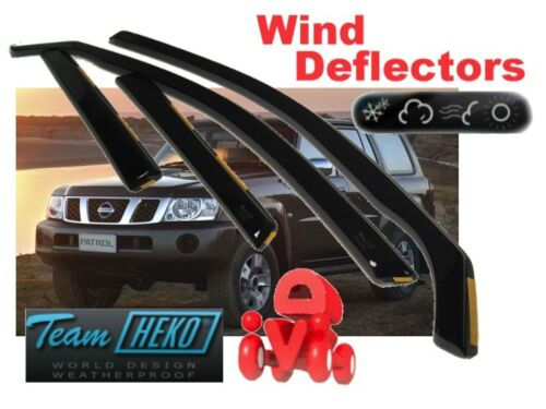 4.pc Heko 24232 Nissan Patrol Y61 Gr 5 puertas 1997-viento desviadores