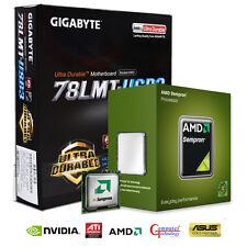 AMD 140 CPU GIGABYTE 78LMT-USB3 mATX MOTHERBOARD GAMING UPGRADE BUNDLE