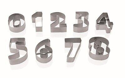 Ausstechform Set 9x Zahlen in Blisterbox *PREISWERT&NEU*