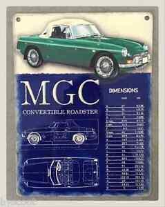 mg b mgb 1967 plaque m tal decoration vintage r tro garage voiture collection ebay. Black Bedroom Furniture Sets. Home Design Ideas