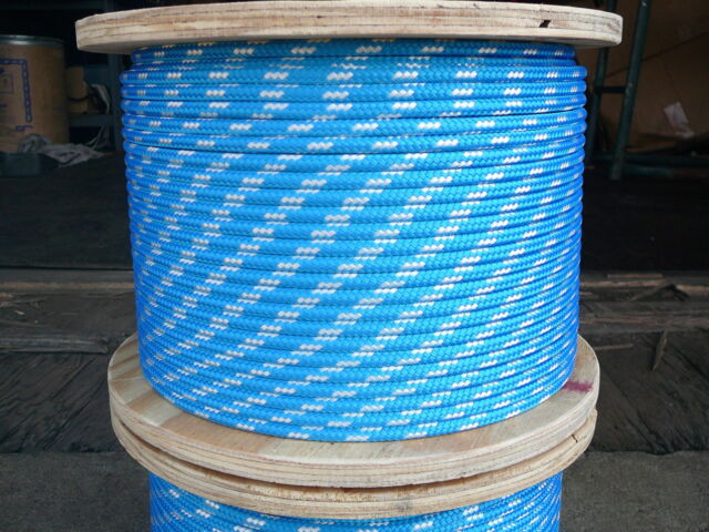 "NovaTech XLE Halyard Sheet Line Dacron Sailboat Rope 1//4/"" x 50/' White//Blue"